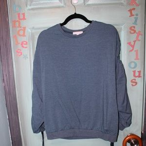 Dont Ask Why Blue Bunched Sweatshirt